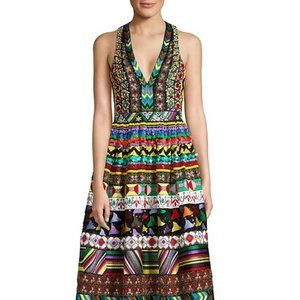 Alice + Olivia Casandra Embellished V-Neck Gown